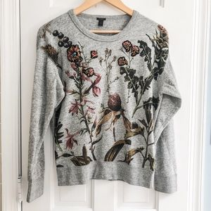 Embellished sweat shirt